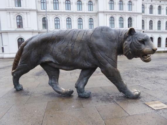 Oslo w dwa dni: rzeźba Tygrysa