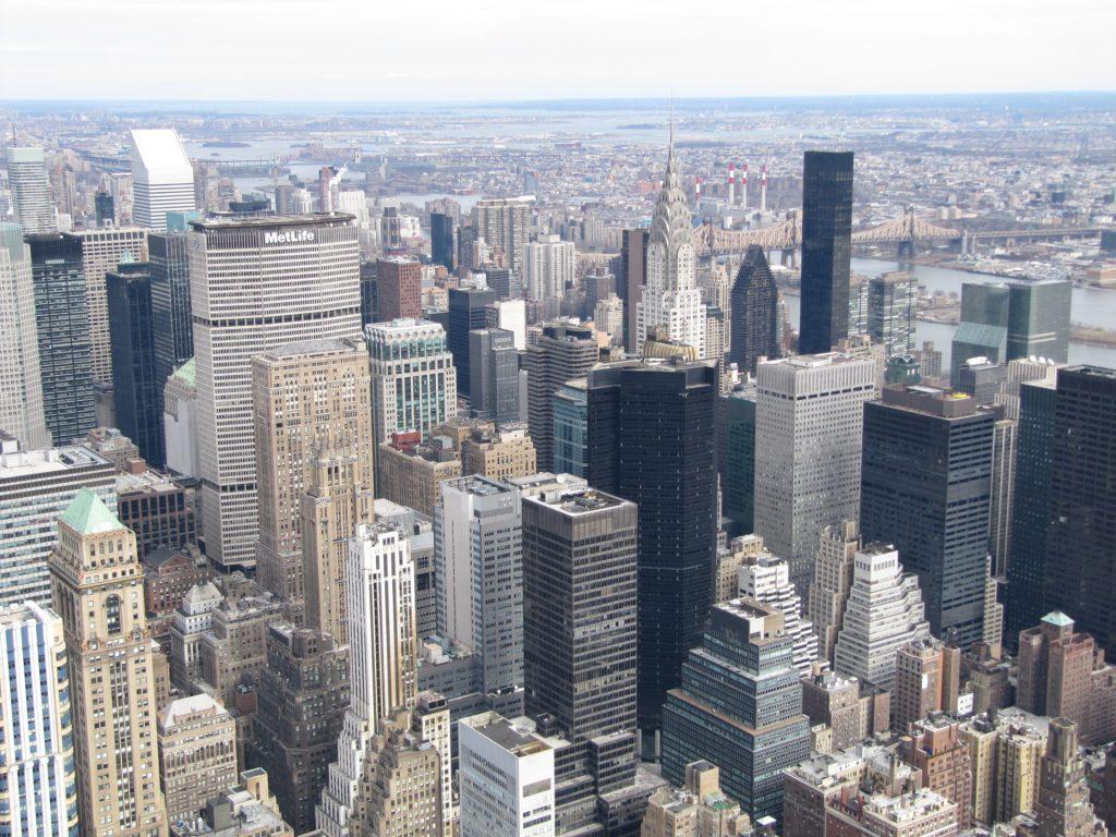 Stany Zjednoczone: Manhattan strona wschodnia z budynkiem Chryslera