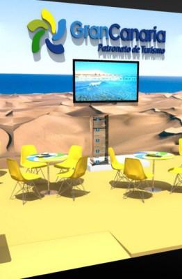 Stand de Gran Canaria en la ITB