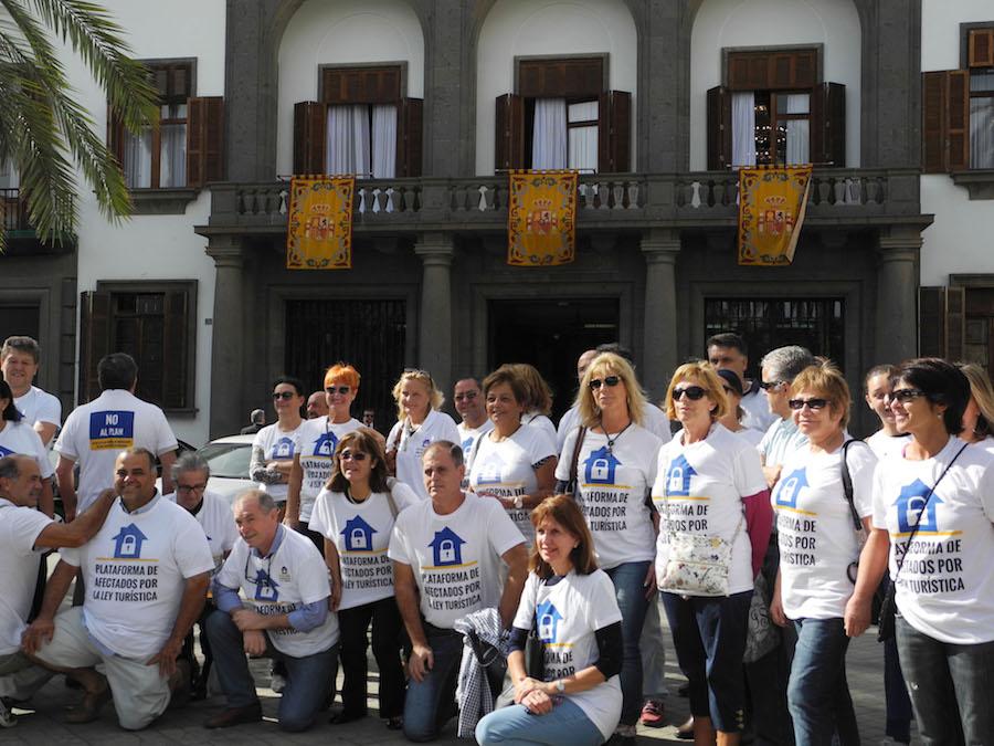 Manifestación de la Plataforma de Afectados por la Ley Turística. Fotografía: PALT