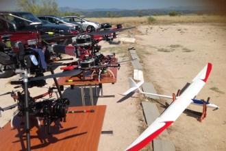 Exhibición de vuelo de drenes organizada por el Sepla. Fotografía: ATCpress