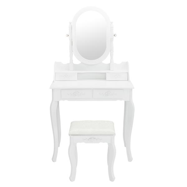 Single Mirror Jewelry Cabinet Dresser White