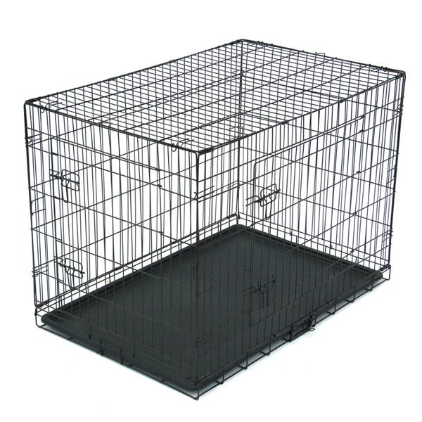 "42"" Pet Kennel Cat Dog Folding Steel Crate Animal Playpen Wire Metal"