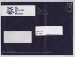 Sheffield Prospectus Envelope