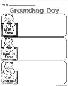 Groundhog Day Printable Book And Writing Activities A Teachable Teacher