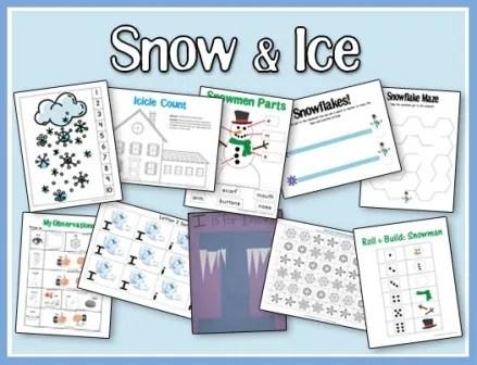 Snow & Ice Printables