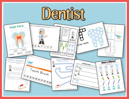 FREE Dental Health Printables • A Teaching Mommy