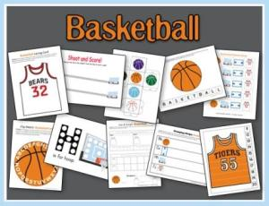 Why not include your kiddos in all the March Madness fun with these Free Basketball Printables for your preschool and tot!
