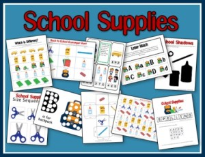 School Supplies Preschool Pack
