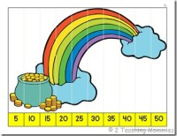 K Number Order Puzzle- St.Patrick's Day