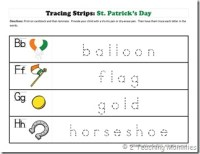 Tracing Strips St. Patrick's Day