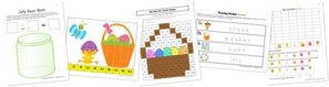 Easter Symbols Kindergarten Extension Pack