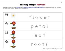 K Tracing Strips Flowers