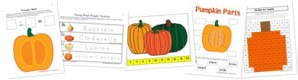 Pumpkin Kindergarten Extension Pack