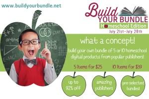 SALE: Build Your Bundle–Homeschool Edition