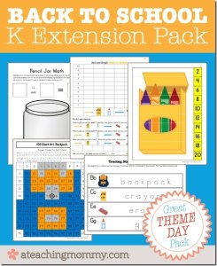 Back to School Kindergarten Pack