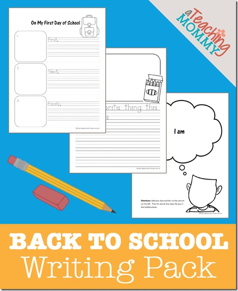back to school writing pack