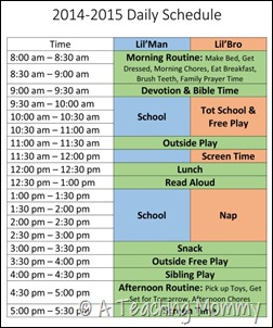 2014-2015 Daily Schedule 1