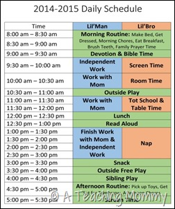 2014-2015 Daily Schedule 2