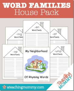 Word Families House Pack {FREE Printable}