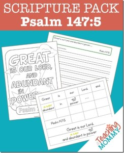 Psalm 147:5 Scripture Pack {Free Printables}
