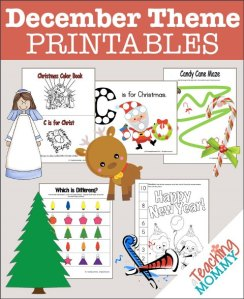 FREE December Themed Printables