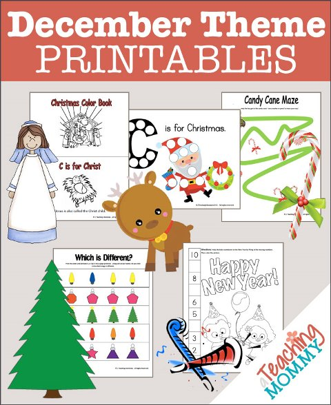 FREE December Themed Printables