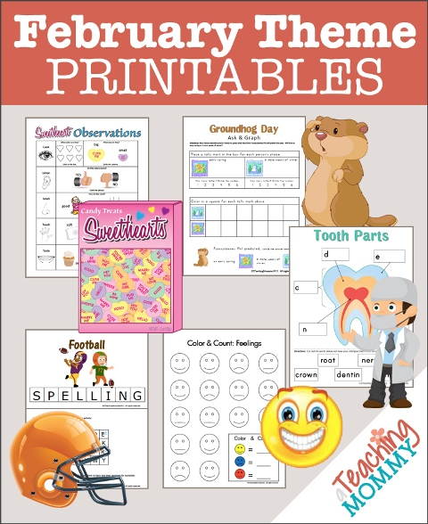 FREE February Themed Printables