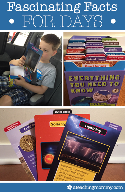 Is your child a fact junkie? Then check out Silver Dolphin's Everything You Need To Know Smithsonian Card Sets. (Available for K-1 and 2-3) Read this review to find out more.