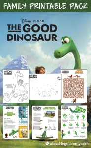 FREE The Good Dinosaur Printables