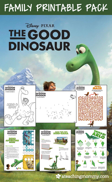 FREE Disney The Good Dinosaur Printables For Whole Family This Kit Includes Over 20