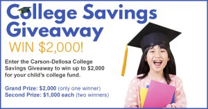 $2000 College Savings Giveaway!