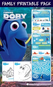 FREE Disney Finding Dory printables for the whole family! This kit includes over 20 pages of resources. You'll find crafts, activities, and even games!