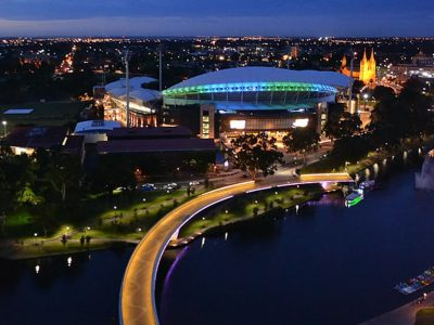 Adelaide Tutors view the city from above the river