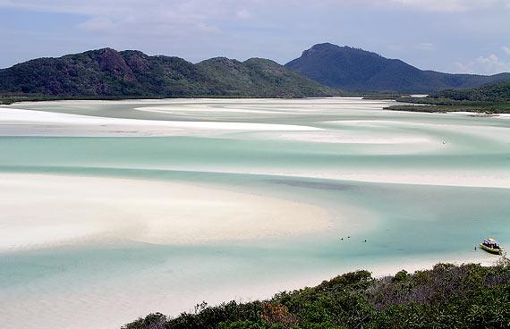 Praia Whitehaven por Jeremy Vandel