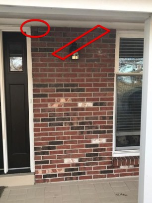 An otherwise solid wall that has 2 small settling cracks. This project is a good candidate for spot tuckpointing.