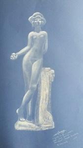 dessin d'après une sculpture du musée Bourdelle