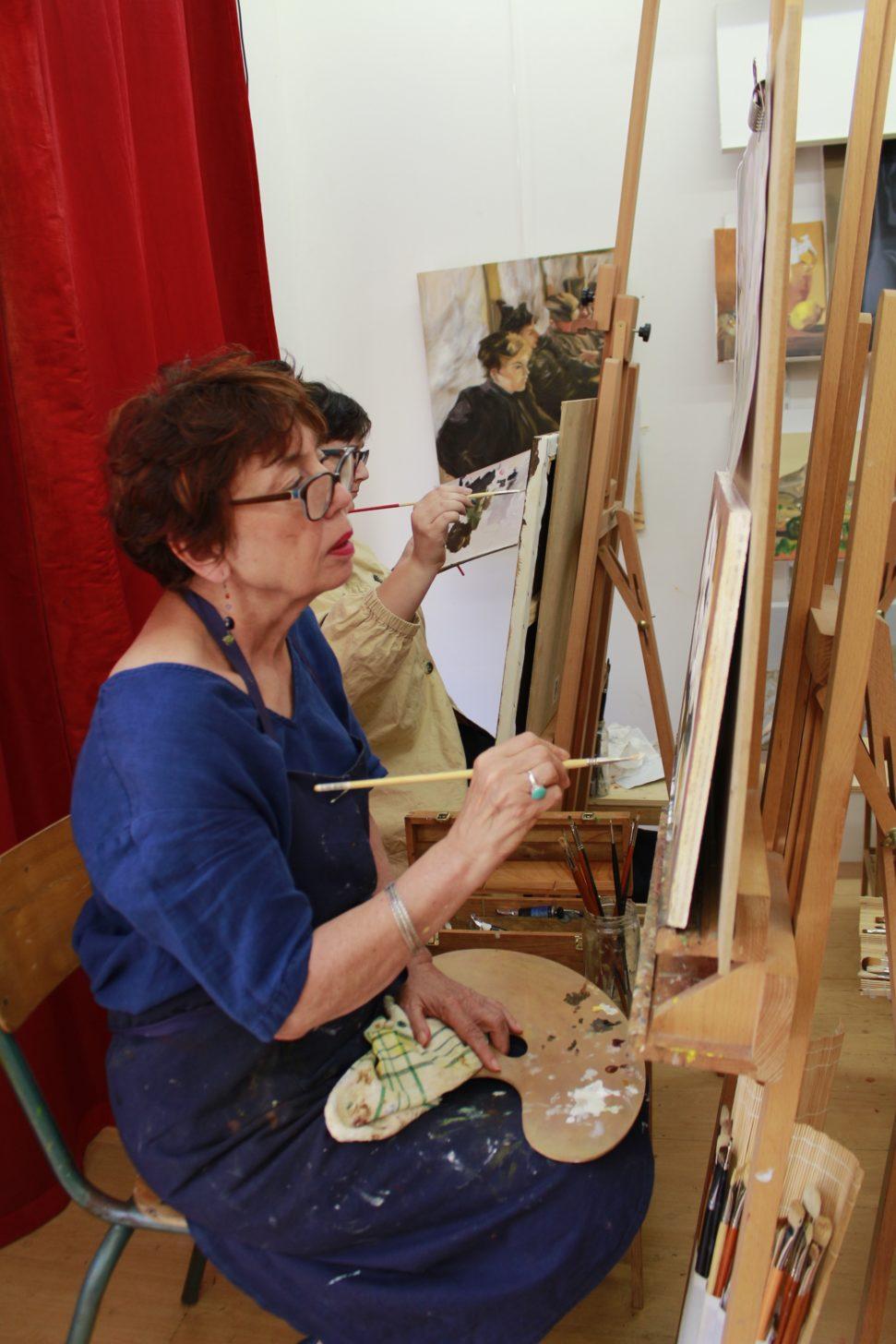 cours de peinture à paris 14, métro Alésia