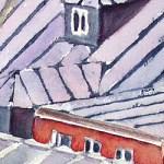 Dächer von Paris - Aquarell
