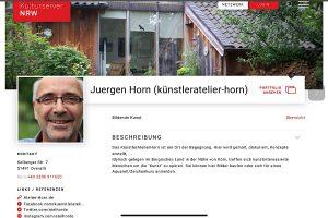 Mein Eintrag im Kulturserver NRW