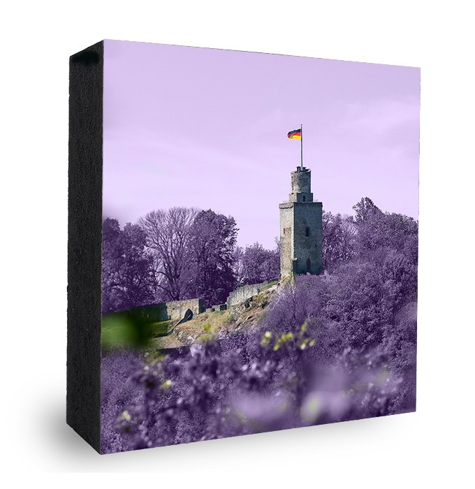 Falkensteiner Burg bunt - Lila