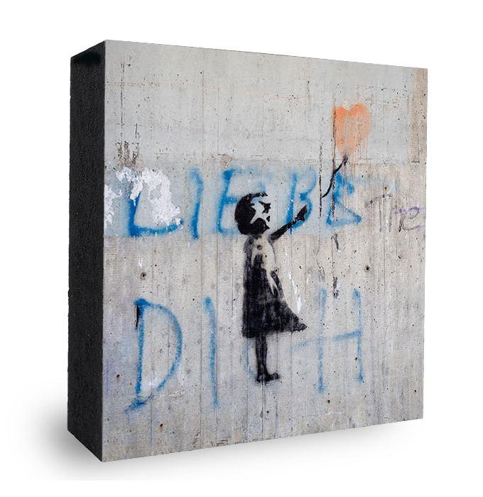 Mädchen mit Love Ballon - Banksy Style Graffiti