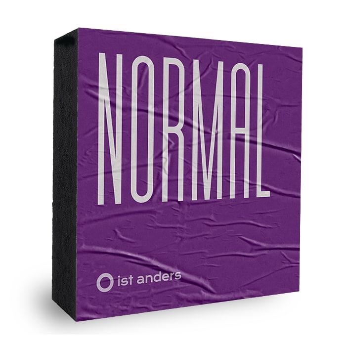 NORMAL ist anders dunkel lila