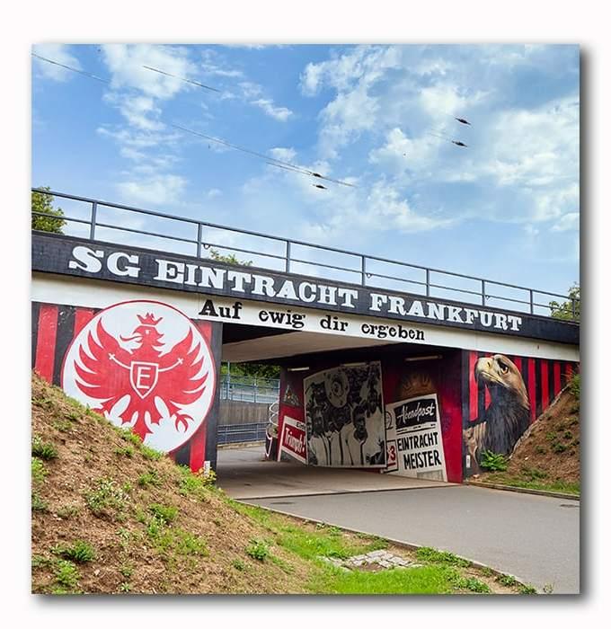Bild Eintracht Frankfurt Brücke