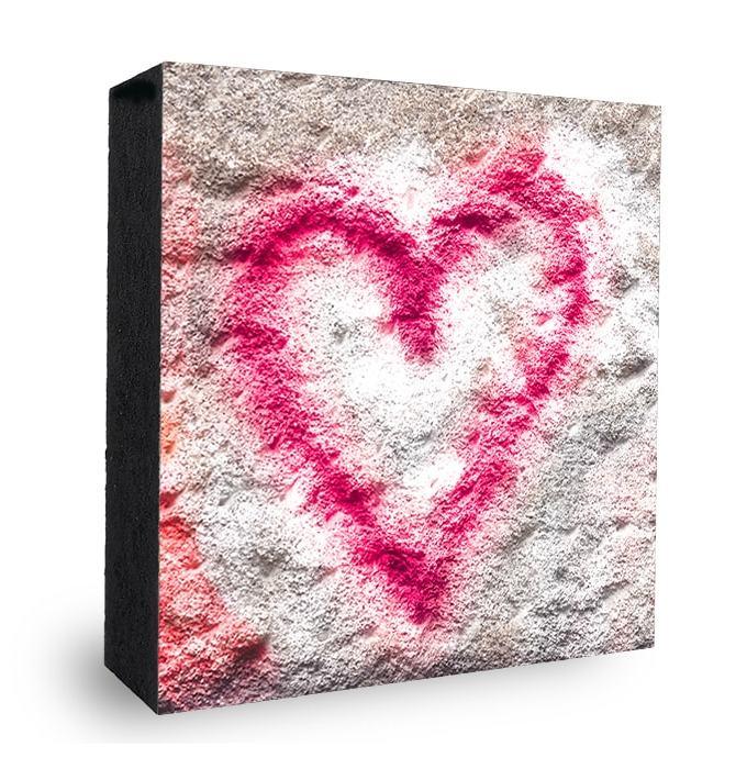 Herz Graffitie Bild auf Holz
