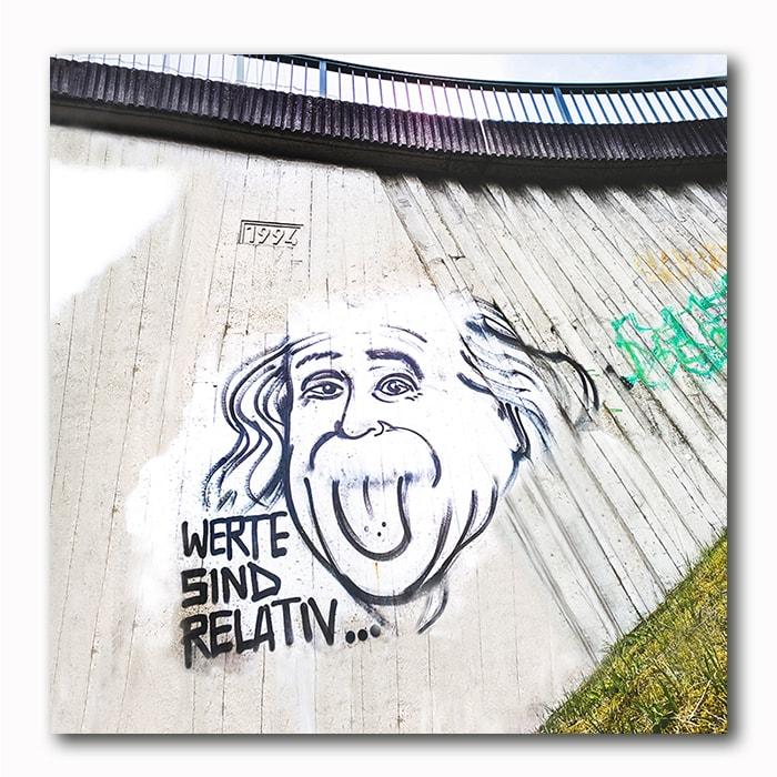 Einstein Werte sind relativ Graffiti Bild