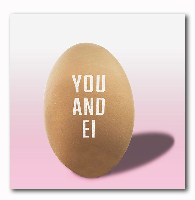 YOU and EI Bild auf Holz