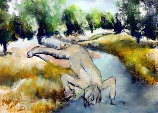 Figur am Fluß
