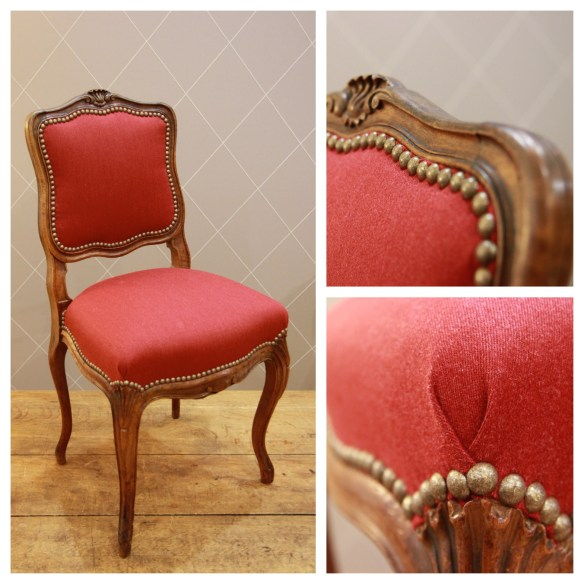 Chaise habillée en Dandy Rouge - Atelier MD2