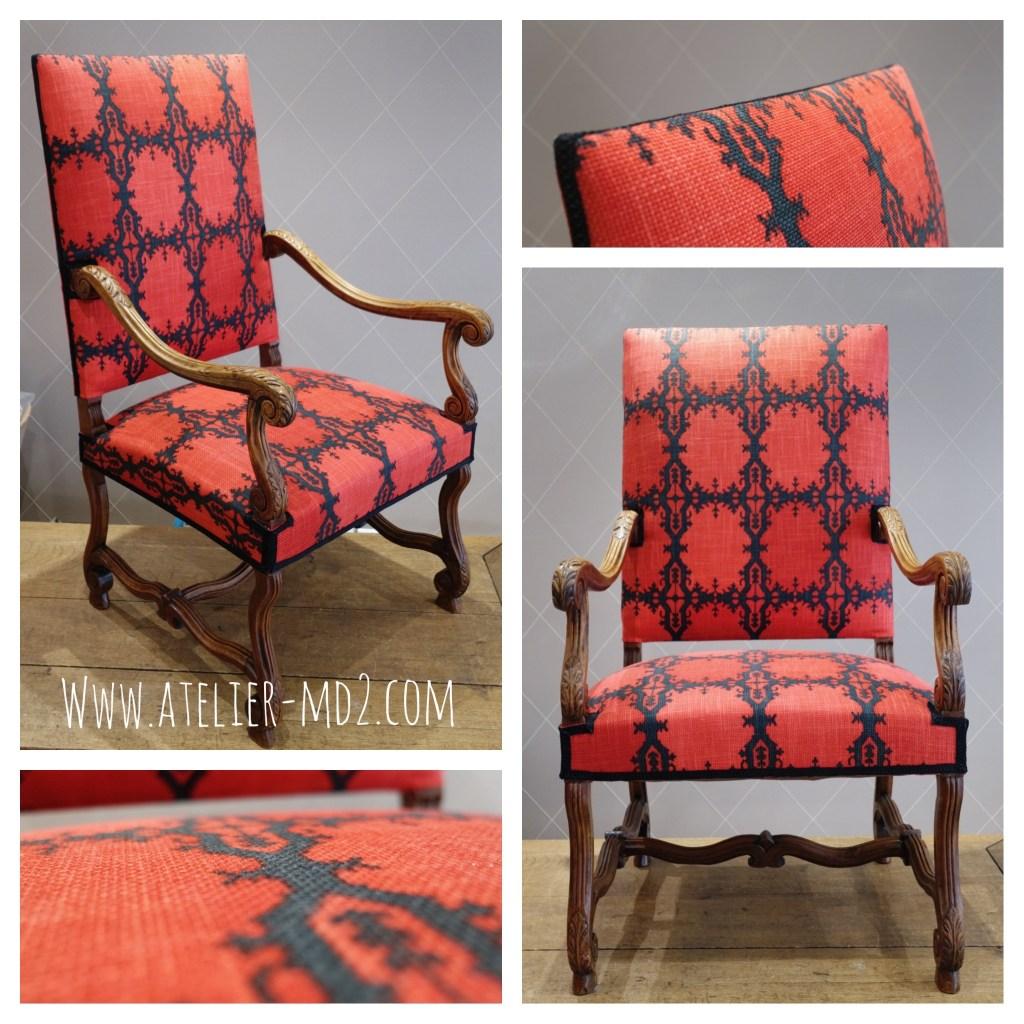 nouveau look fauteuil louis xiii